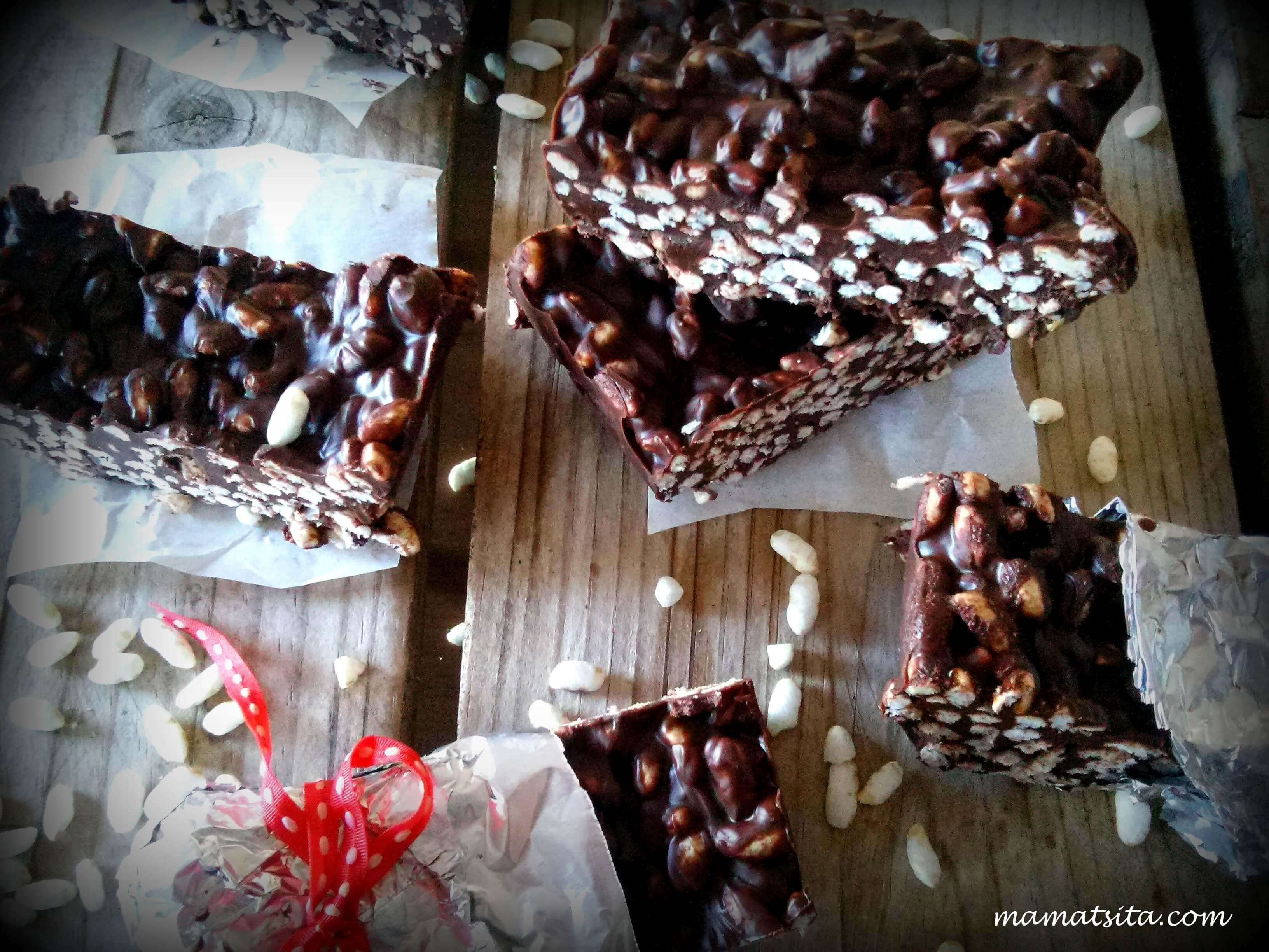 σοκολατένιες μπάρες ρυζιού